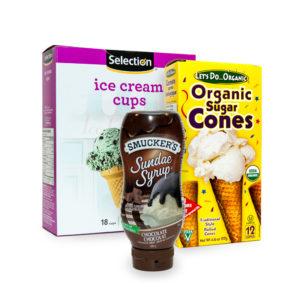 Ice Cream Cones & Sauces